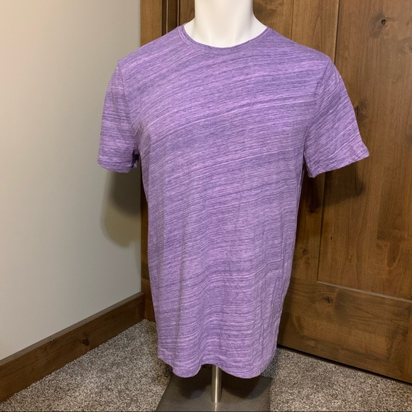 Banana Republic Crewneck Purple Short Sleeve Shirt